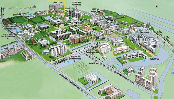 מפת אוניברסיטת תל אביב